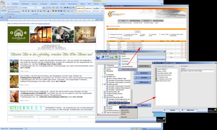officecms content management system newsletter. Black Bedroom Furniture Sets. Home Design Ideas